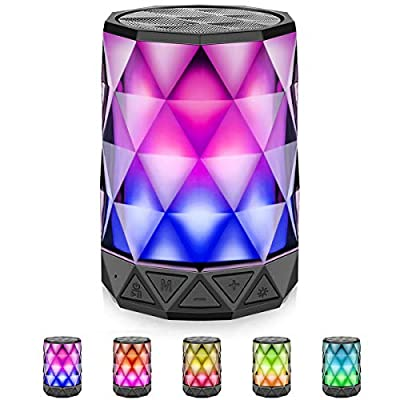 Bluetooth Speakers with Lights, LFS Night Porta...