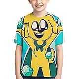 XCNGG Niños Tops Camisetas Children's T-Shirt Mikecra-CK Cute Cool Style Short-Sleeved T-Shirt Mikecra-CK Black