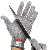 IDEAPRO Cut Resistant Gloves, Level 5 Protection, Food Grade, Safty Gloves for Hand protection and yard-work, Kitchen Glove for Cutting and slicing, 1 pair