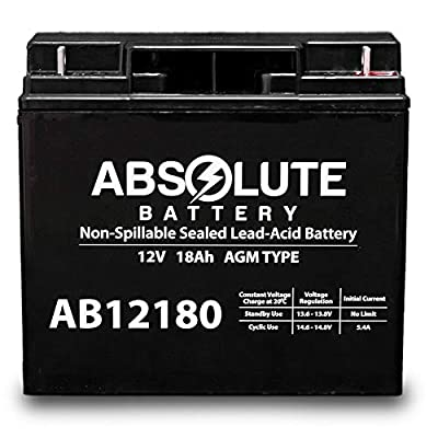 AB12180 12V 18AH Replacement Battery for Earthwise Electric Lawn Mower