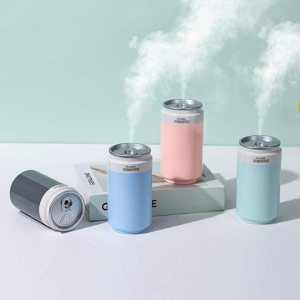 Humidificador Ultras/ónico en Forma de Mini Lata Difusor de Aromas Recargable por USB