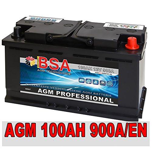 AGM Autobatterie 12V 100Ah 900A/EN ersetzt 92Ah 95Ah Audi BMW Mercedes Porsche