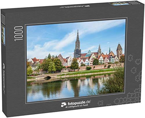Puzzle 1000 Teile Panoramablick auf die Ulmer Innenstadt, Deutschland - Klassische Puzzle, 1000 / 200 / 2000 Teile, edle Motiv-Schachtel, Fotopuzzle-Kollektion 'Kirche'