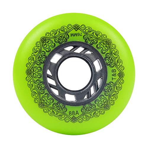 TGHY 88A PU-Ersatzrader für Inline-Skates 72mm 76mm 80mm Inliner Rollen für Indoor-Skates 8er-Pack,Grün,72mm