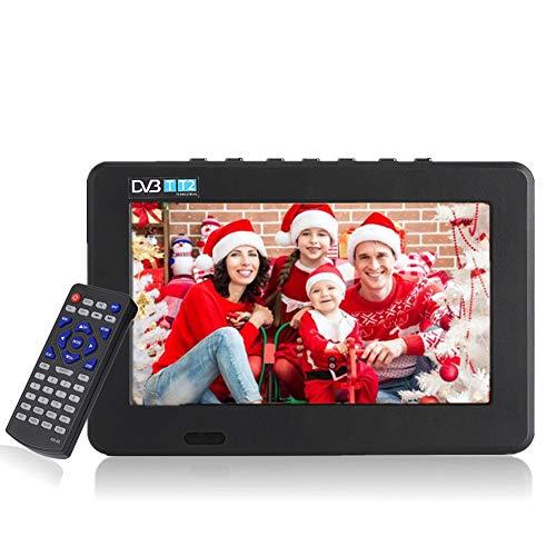 """11,6 Pulgadas TV portátil, LED pequeña Televisión con TDT DVB-T/T2 Dos Altavoz TV Digital con 1500 mAh baterías Recargables y Mando a Distancia para cámara, Cocina, Caravana, Coche. (7"""")"""