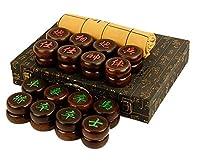 チャイニーズチェスボード、ハイグレードエボニーチェスギフト、クラシックストラテジーゲーム、パズルボードゲーム、論理的思考能力の向上手作り3D彫刻/ A(パズルエンターテイメントパーティー)