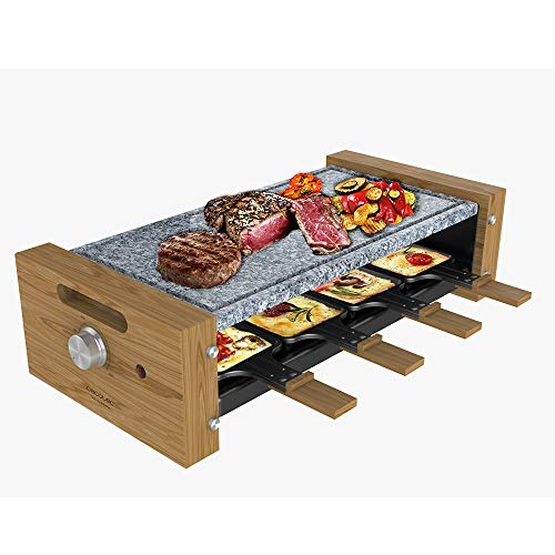 Cecotec Raclette Cheese&Grill 8600 Wood AllStone