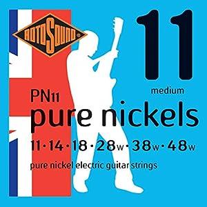 Juego de cuerdas para guitarra eléctrica Están hechas de níquel Con una superficie repelente al sudor y el aceite Proporcionan un sonido nítido y potente
