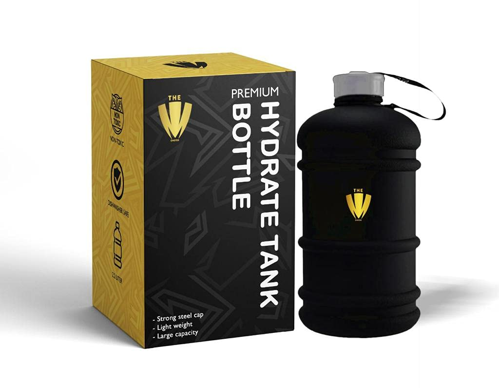 GYM BOTTLE 2.2 LITER WATER JUG WITH LID SPORTS BOTTLE BPA FREE HALF GALLON WATER BOTTLE LARGE FOR OUTDOOR, SPORTS, OFFICE - THE MONSTER