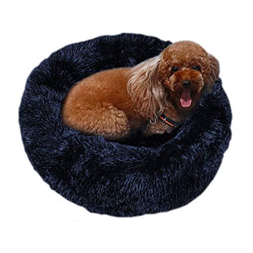 Hundebett 40-100 cm Langes Plüsch-Haustier-Hundekatze-Tiefschlafbett Wasserdichtes Haustier-Nest-Haus Für Kleine Lagre-Hundekatze-Weiche Haustierbetten 80 cm Marine