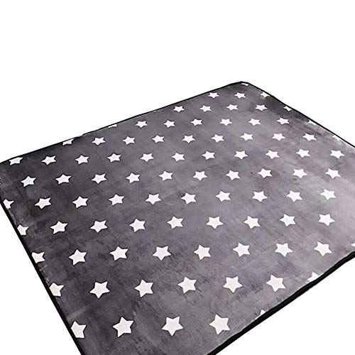 Ukeler Modern Kids Rugs Children Crawling Mat Non-Slip Thicken Washable Carpet for Nursery Room, 59''x74.8'', Star