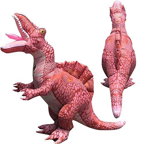 MOSHANG De Halloween for adultos de dinosaurios trajes inflables, volver lomo de tela de fibra de poliéster resistente al agua dragón, altura 5,1 pies-6.4 pies adaptados, moviéndose muñecos de dibujos