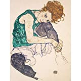 Wee Blue Coo Egon Schiele Seated Woman Legs Drawn Up Adele