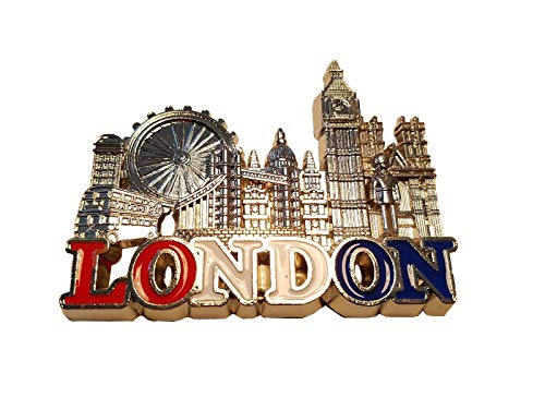 London Metal Koelkast Magneet - Zilver Gekleurd/Oog/Tower Bridge/Big Ben/St. Paul's Cathedral/Westminster Abbey/Royal Guard/Telefoon Box/Double Decker Bus/Engeland Britse Britse Souvenir