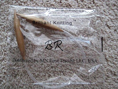 Big Size, 3 Sizes 9' inches Bamboo Circular Knitting Needles BrilliantKnitting (BR Brand) (US 10.5, 11, 13) New USA Made tubing, Never Break Again