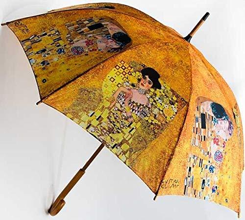 Regenschirm Gustav Klimt Automatik Damen Herren Der Kuss & Adele Motivschirm