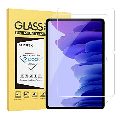 Gerutek [2 Stück Schutzfolie für Samsung Galaxy Tab A7 10.4, 9H Festigkeit, 2.5D, Hülle Fre&llich Anti-Kratzen, Anti-Bläschen Bildschirmfolie Schutzglas Bildschirmschutz für Samsung Tab A7 10.4 T500/T505/T507