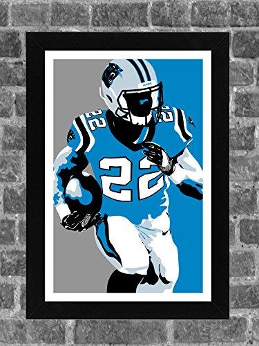 ICONIC Carolina Panthers Christian McCaffrey Sports Print Art 11x17