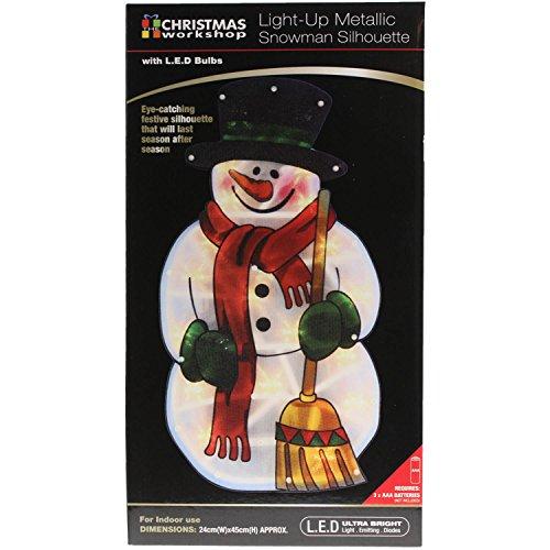 The Benross Christmas Workshop LED Snowman Metallic Silhouette Light