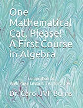 One Mathematical Cat, Please! A First Course in Algebra: Compilation of Web Page Lessons (92 thru 164)
