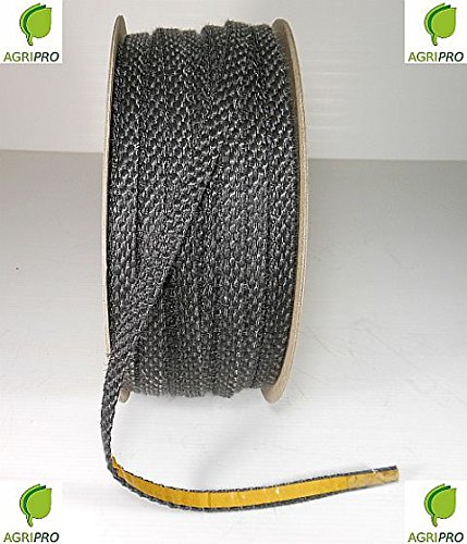 Agripro – Junta térmica adhesiva 550°, de 10x 3mm para cristal de estufas, chimeneas, hornos, etc.