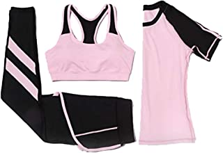 Women Yoga Wear Summer Outdoor Sports Quick-Drying Fitness Set Yoga Three-Piece Set Activewear Tracksuits Tights Leggings