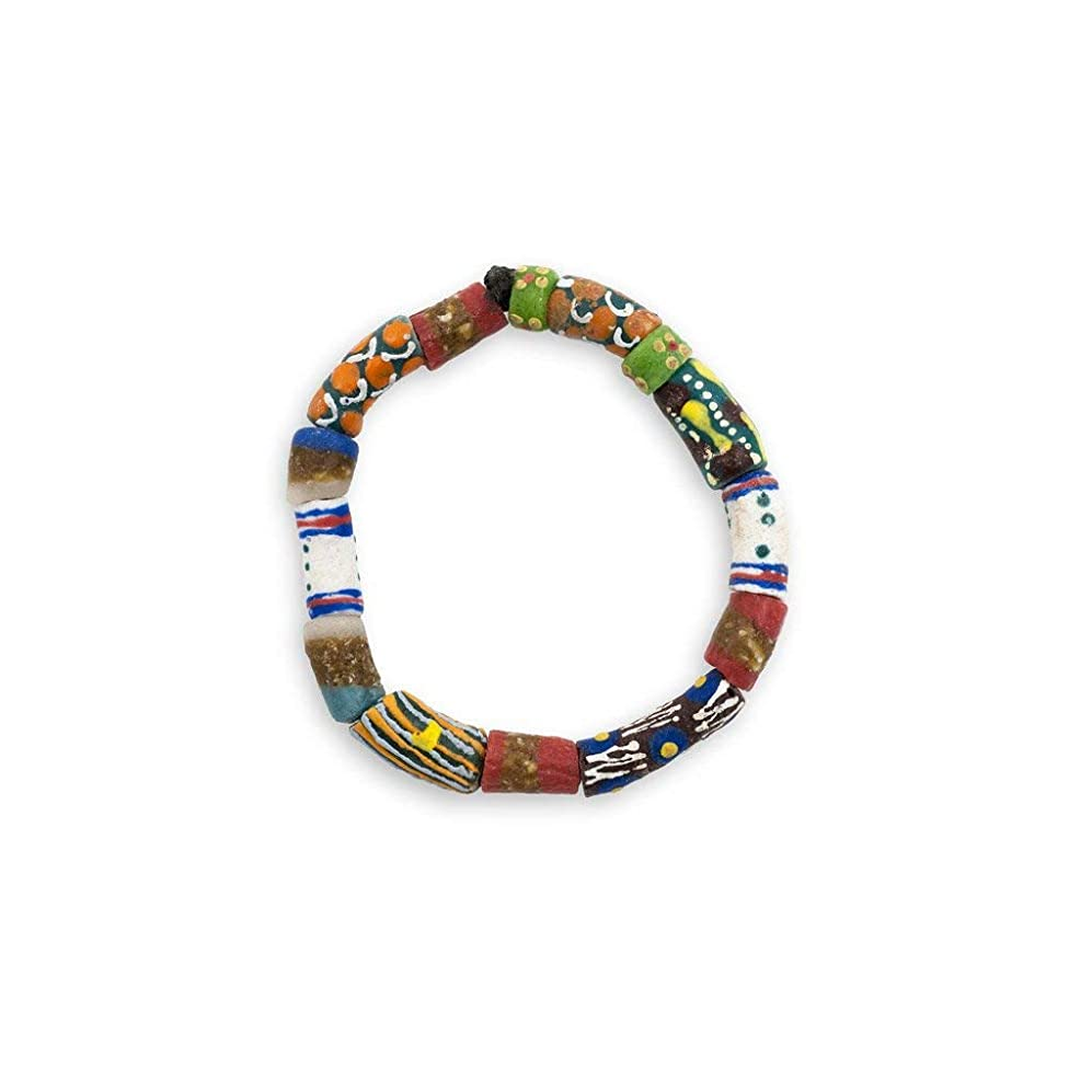 JewelrySupply Krobo Tribe SandCast Stretch Bracelet