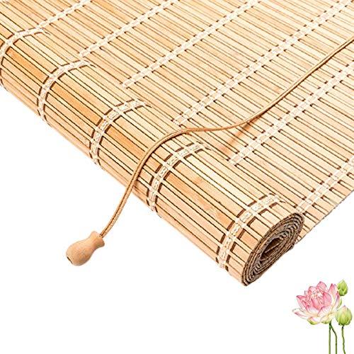 X1NGFU Persianas Enrollables de Bambú para Interiores,Cortina de Bambu- Estores para Ventana Tipo Gancho,Persiana Toldo Vertical Cortinas Opacas,para Porche/Corte,Personalizable (110x160cm/43x63in)
