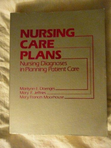 Nursing care plans: Nursing diagnoses in planning patient care