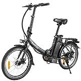 BIKFUN 350W E-Bike 20Zoll Klappbar Elektrofahrrad mit10Ah/360Wh Externer AbnehmbarAkku| Pendler Elektrofahrrad fürErwachsene HerrenDamen | City E-Bike Pedelec mit Shimano 7-Gang bis 32km/h