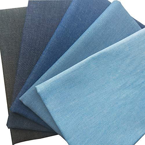 ZAIONE 5pcs Fat Quarter 17.7'x17.7' PackSoft 100% Cotton...