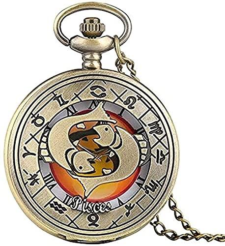 Yiffshunl Collar la Mejor Novia Son Hermanas Que elegimos Reloj de Bolsillo de Cuarzo diseño de Vidrio cabujón Vintage Hombre Mujer Collar Colgante Reloj Cadena Regalos