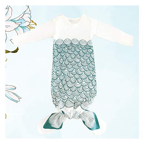 Newborn Gowns Long Sleeves Baby Sleep Bag Mermaid Newborn Clothes Baby Wearable Blanket Newborn Gift for Girls Boys
