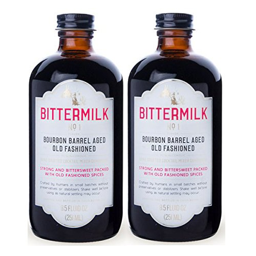 Bittermilk No.1 Bourbon Barrel Aged Old Fashioned Cocktail Mixer - 8.5 Oz Two Pack (Pack of 2)