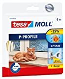 tesa 05390–00110–00Gummidichtung für Fenster und Türen, P-Profil, White, Farbe: weiß