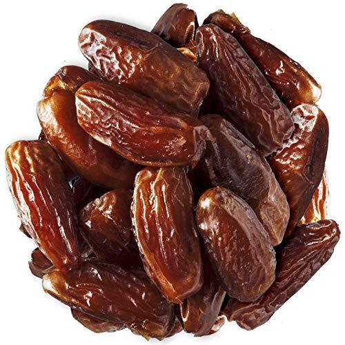 Datteln Deglet Nour 1 kg Sparpack - Ganze Datteln entsteint - Trockenfrüchte unbehandelt, ungeschwefelt, ohne Zuckerzusatz - Zum Naschen, Backen, für Müsli - Bremer Gewürzhandel