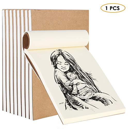 HelloCreate - Cuaderno de dibujo (80 hojas), diseño de dibujos animados 1 pieza 32 K