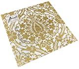 Tovaglioli di carta Lunch Feste, circa 33 x 33 cm, per matrimoni, battesimi, Natale, inverno, goffrati con emblema Elegance Jaipur bianco/oro