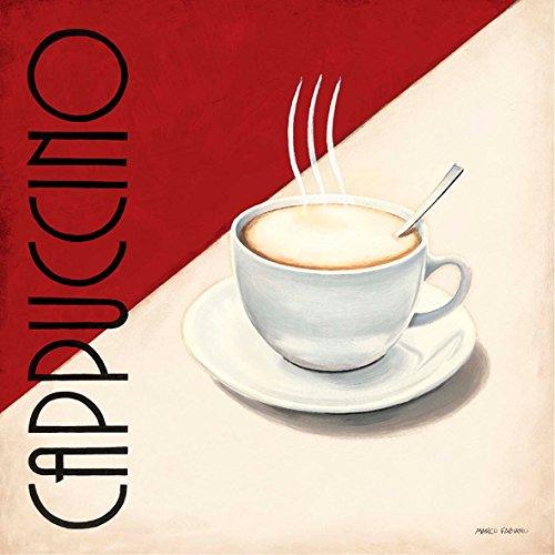 Marco Fabiano Cappuccino 30 x 30 cm cadre impression sur Panneau en bois MDF bord noir