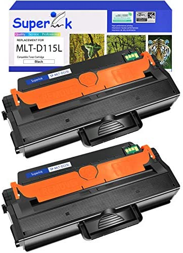 SuperInk 2 Pack Premium High Yield Toner Cartridge Replacement Compatible for Samsung MLT D115L product image