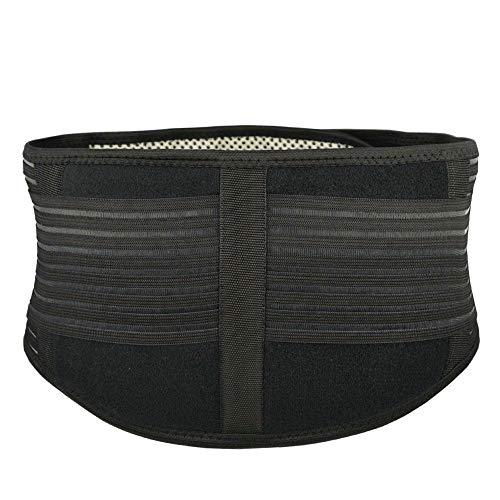 CapsA Waist Trimmer for Women Men Sweat Waist Trainer Slimmer Belt Slimmer Kit Weight Loss Wrap Stomach Fat Burner Best Abdominal Trainer Fat Burner Low Back Lumbar Support (Black, XL)