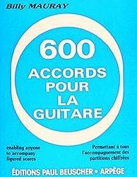 600 accords pour la guitare