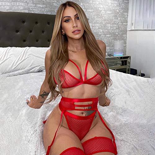 asdsad Conjunto de lencería erótica Caliente más el tamaño de lencería sin Costuras Conjunto de Sujetador de Encaje Sexy Ropa Interior de Mujer Transparente