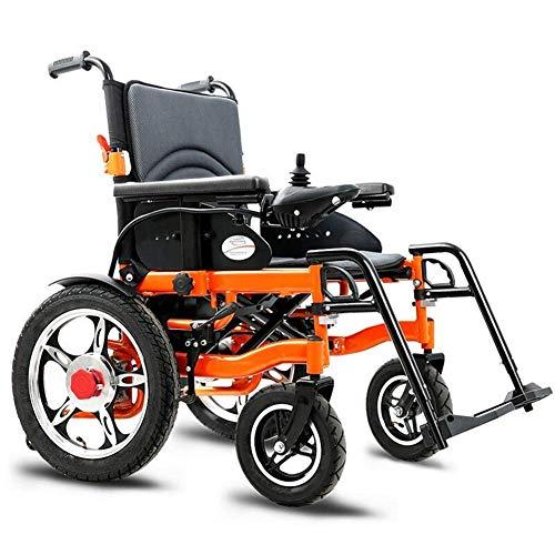 DLY Älterer Behinderter Elektrischer Hochleistungsrollstuhl, Faltbarer und Leichter Angetriebener Rollstuhl, Sitzbreite 51Cm, 360 ° Joystick, Gewichtskapazität 100Kg