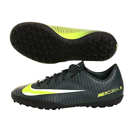 Nike Kids MercurialX Victory VI CR7 Turf Soccer Shoes Seaweed/Volt/Hasta/White Soccer Shoes - 4.5Y