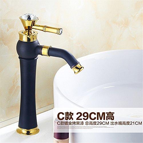 Badezimmer europäischer Stil Antik Kupfer bemalte Waschbecken Titan Wasserhahn Waschbecken heiß und Kalt Wasserhahn