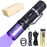 LIGHTFE UV301 395nm UV Flashlight LED Purple Light Identification handheld black UV torch AA battery For Lamp -Spot Scorpions, Pet Urine, Counterfeit Money, Bed Bugs,For resin (UV301-395nm)