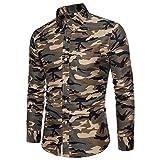 Herren Hemd Basic Slim Fit Langarm Elegant Kent-Kragen Brusttaschen Work t Shirt Stretch Formelle...