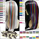 Bangle009 Lot de 60 extensions de cheveux confortables avec plumes élastiques et perles