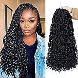 cheveux bouclés ondées faux col crochet se tresser 6pcs déesse extensions de cheveux synthétiques/lot